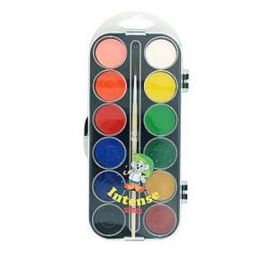 Sense Vattenfärger Basfärger 12-pack med Pensel