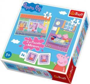 Trefl 2 Pussel + Memo - Peppa Pig 30 & 48 Bitar