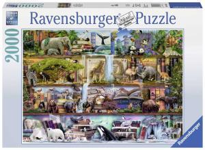 Ravensburger, Vilda djur i bokhyllan 2000 bitar
