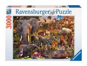 Ravensburger, Afrikanska djur 3000 bitars Pussel