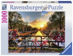 Ravensburger Pussel - Cyklar i Amsterdam 1000 bitar