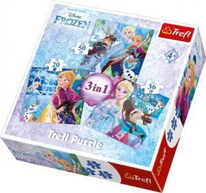 Trefl 3in1 Pussel - Disney Frost 20, 36 & 50 Bitar