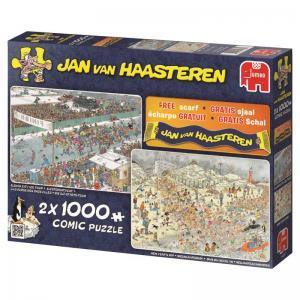 Jan Van Haasteren, vinterskoj, 2 x 1000 Bitar