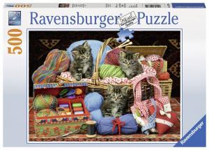 Ravensburger Pussel - Stickande kattungar 500 bitar