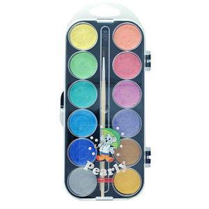 Sense Vattenfärger Pärlemor 12-pack med Pensel