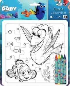 Disney Hitta Doris - Färglägg ditt eget pussel, Pysselset