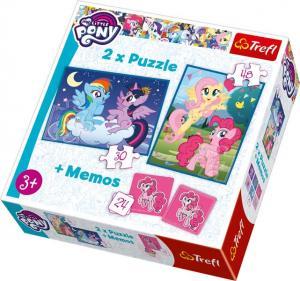 Trefl 2 Pussel + Memo - My Little Pony 30 & 48 Bitar