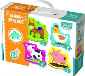 Trefl Baby Pussel - Små bondgårdsdjur 3, 4, 5 & 6 Bitar