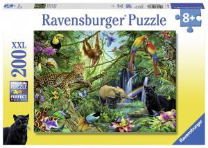 Ravensburger Pussel - Animals in the jungle 200 bitar XXL