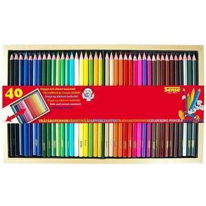 Sense Träfärgpennor 40-Pack