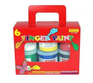 Sense Fingerfärg 6-Pack
