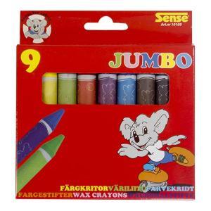 Sense Jumbo Vaxkritor 9-Pack