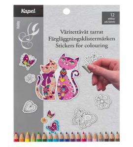 Kapel - DIY Klistermärken 12 Ark, Katter