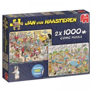 Jan Van Haasteren Pussel, För matälskaren 2 x 1000 Bitar