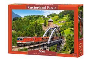 Castorland Pussel Tåg på bro, Alperna 500 Bitar